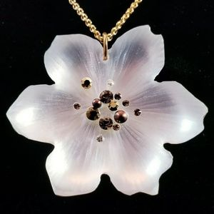 Alexis Bittar Jewelry - ALEXIS BITTAR Flower Necklace, Lucite & Crystals
